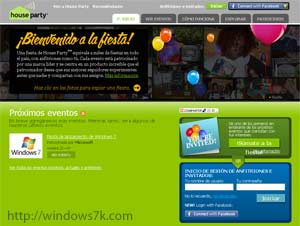 House Party Español de Windows 7
