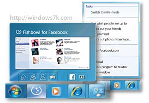 Fishbowl, cliente Facebook para Windows 7