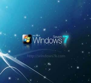 Logo de Windows 7 en el espacio